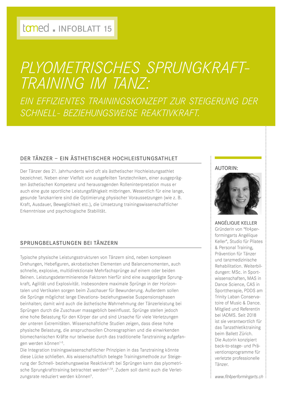 Infoblatt 15 - Plyometrisches Sprungkrafttraining im Tanz